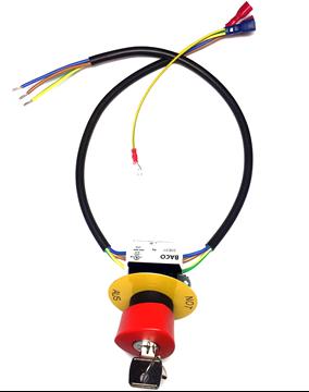 Bild von Not-Aus-Pilztaster komplett mit Kabel